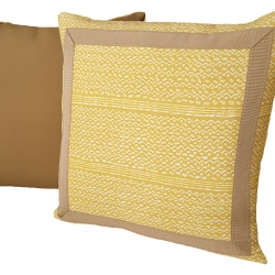Knife Edge Pillow with Tape Trim 4