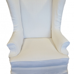 Wing Chair Slip Cover 8